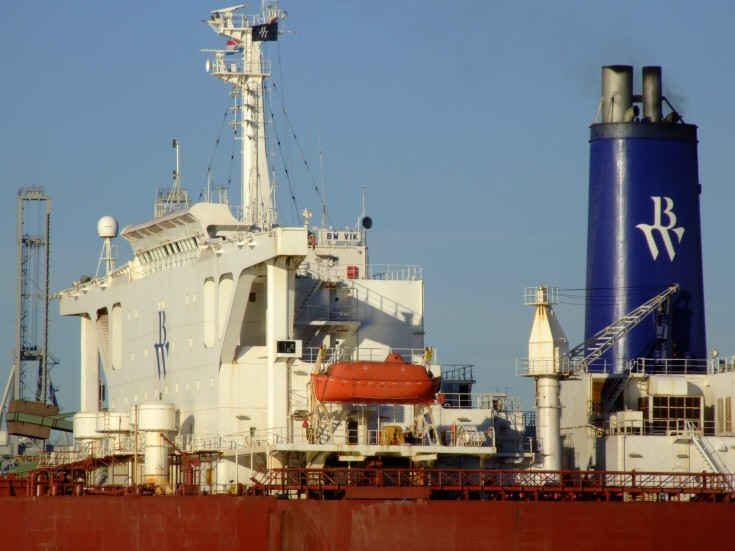 Superstructure of bulk carrier BW Vik